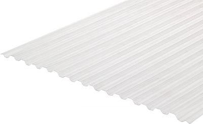 Градостійкий профільований монолітний полікарбонат BauGlas (Сербія) 2УФ Преміум 0.8 мм 1050 х 2000 мм прозорий, кв.м