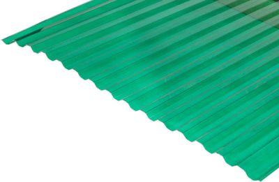 Градостійкий профільований монолітний полікарбонат BauGlas (Сербія) 2УФ Преміум 0.8 мм 1050 х 3000 мм зелений, лист