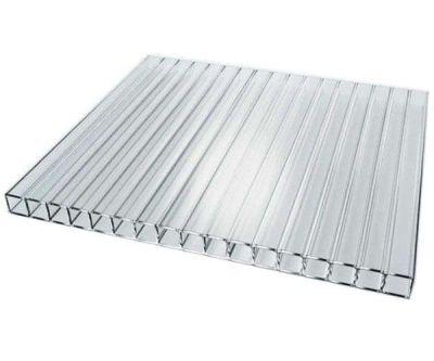 Сотовий полікарбонат BauGlas ST LONGLIFE (Сербія) 1УФ Стандарт 8 мм (4ст) 2100 х 6000 мм прозорий, кв.м