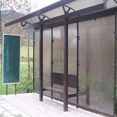 Автобусна зупинка із стільникового полікарбонату