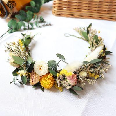 Сухий квітковий вінок весільний головний убір