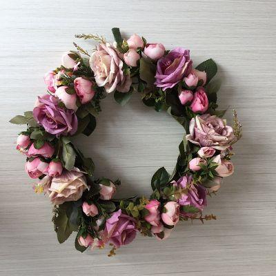 Штучна квіткова гірлянда Шовкова квітка Троянда Гірлянда Дверні перемички Орнамент