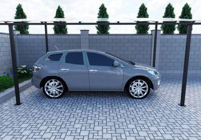 Автонавiс скатний (каркас) 4000x6190x2986