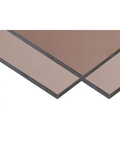 Антивандальний монолітний полікарбонат BauGlas FSX (Сербія) 2УФ Преміум 2 мм 2050 х 3050 мм сіра бронза, лист