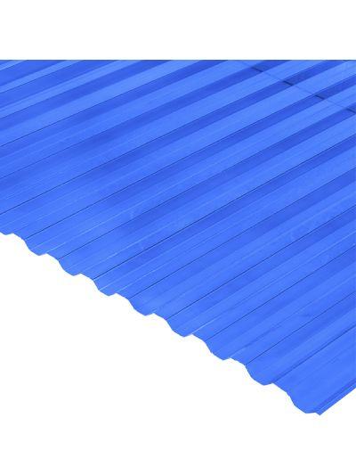 Градостійкий профільований монолітний полікарбонат BauGlas (Сербія) 2УФ Преміум 0.8 мм 1050 х 4000 мм синій, кв.м