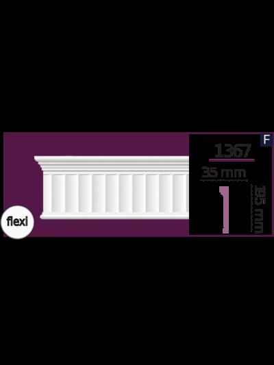 Молдинг для стен  Home Décor 1367 (2.44м) Flexi , лепной декор из полиуретана