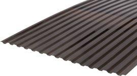 Градостійкий профільований монолітний полікарбонат BauGlas (Сербія) 2УФ Преміум 0.8 мм 1050 х 3000 мм сіра бронза