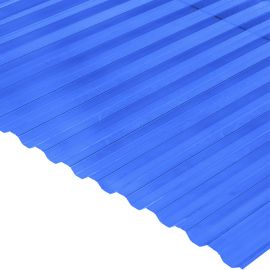 Градостійкий профільований монолітний полікарбонат BauGlas (Сербія) 2УФ Преміум 0.8 мм 1050 х 2000 мм синій