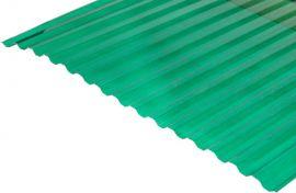 Градостійкий профільований монолітний полікарбонат BauGlas (Сербія) 2УФ Преміум 0.8 мм 1050 х 2000 мм зелений
