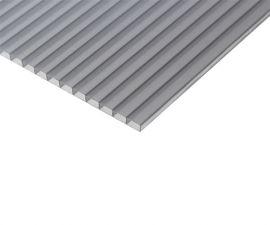 Сотовий полікарбонат BauGlas ST LONGLIFE (Сербія) 1УФ Стандарт 8 мм 2100 х 6000 мм сіра бронза