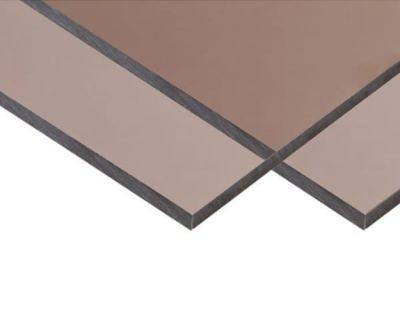 Антивандальний монолітний полікарбонат BauGlas FSX (Сербія) 2УФ Преміум 2 мм 2050 х 3050 мм сіра бронза, кв.м
