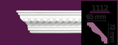 Карниз стельовий з орнаментом 1112 (2.40 м) Home Decor, ліпний декор з поліуретану
