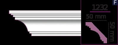 Карниз стельовий гладкий 1232 (2.44м) Home Decor ліпний декор з поліуретану