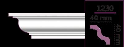 Карниз стельовий гладкий 1230 (2.44м) Home Decor ліпний декор з поліуретану