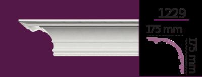 Карниз стельовий гладкий 1229 (2.44м) Home Decor ліпний декор з поліуретану