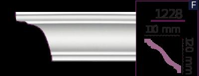 Карниз стельовий гладкий 1228 (2.44м) Home Decor ліпний декор з поліуретану