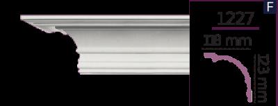 Карниз стельовий гладкий 1227 (2.44м) Home Decor ліпний декор з поліуретану