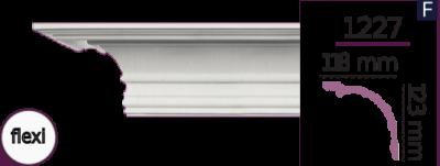 Карниз стельовий гладкий 1227 (2.44м) Flexi Home Decor ліпний декор з поліуретану