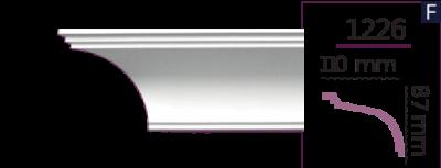 Карниз стельовий гладкий 1226 (2.44м) Home Decor ліпний декор з поліуретану