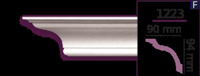 Карниз стельовий гладкий 1223 (2.44м) Home Decor ліпний декор з поліуретану