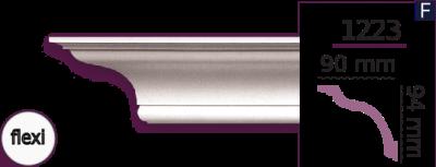Карниз стельовий гладкий 1223 (2.44м) Flexi Home Decor ліпний декор з поліуретану