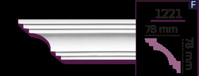 Карниз стельовий гладкий 1221 (2.44м) Home Decor ліпний декор з поліуретану