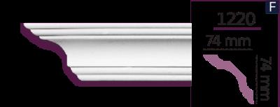 Карниз стельовий гладкий 1220 (2.44м) Home Decor ліпний декор з поліуретану