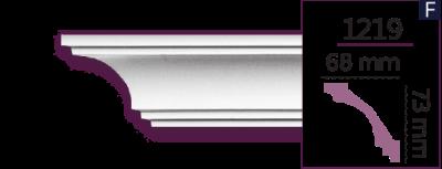 Карниз стельовий гладкий 1219 (2.44м) Home Decor ліпний декор з поліуретану