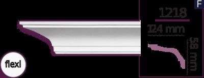 Карниз стельовий гладкий 1218 (2.44м) Flexi Home Decor ліпний декор з поліуретану