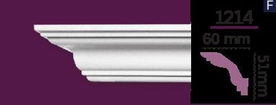 Карниз стельовий гладкий 1214 (2.44м) Home Decor ліпний декор з поліуретану