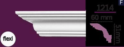 Карниз стельовий гладкий 1214 (2.44м) Flexi Home Decor ліпний декор з поліуретану