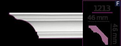 Карниз стельовий гладкий 1213 (2.44м) Home Decor ліпний декор з поліуретану