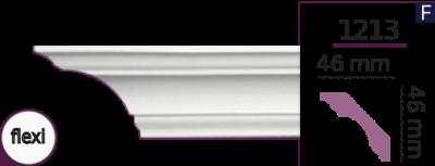 Карниз стельовий гладкий 1213 (2.44м) Flexi Home Decor ліпний декор з поліуретану
