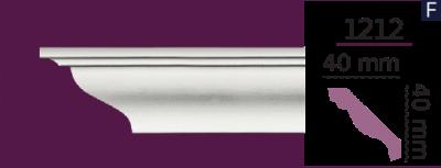 Карниз стельовий гладкий 1212 (2.40м) Home Decor ліпний декор з поліуретану