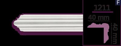 Карниз стельовий гладкий 1211 (2.44м) Home Decor ліпний декор з поліуретану