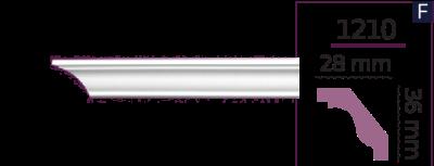 Карниз стельовий гладкий 1210 (2.44м) Home Decor ліпний декор з поліуретану