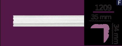Карниз стельовий гладкий 1209  (2.44м) Home Decor ліпний декор з поліуретану