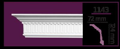 Карниз потолочный с орнаментом 1143 (2.00м) Home Decor, лепной декор из полиуретана
