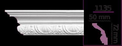 Карниз потолочный с орнаментом 1135 (2.44м) Home Decor, лепной декор из полиуретана
