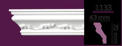 Карниз потолочный с орнаментом 1133 (2.44м) Home Decor, лепной декор из полиуретана