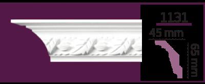 Карниз потолочный с орнаментом 1131 (2.40м) Home Decor, лепной декор из полиуретана