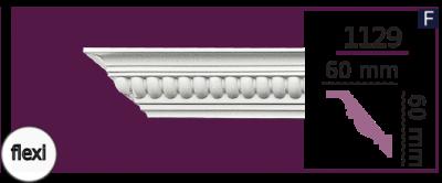 Карниз потолочный с орнаментом 1129 (2.44м) Flexi Home Decor, лепной декор из полиуретана