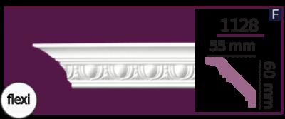 Карниз потолочный с орнаментом 1127 (2.44м) Home Decor, лепной декор из полиуретана