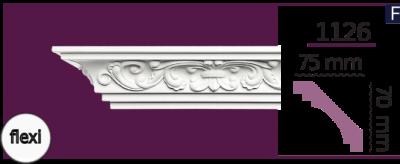 Карниз потолочный с орнаментом 1126 (2.44м) Flexi Home Decor, лепной декор из полиуретана