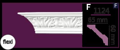 Карниз потолочный с орнаментом 1124 (2.44м) Flexi Home Decor, лепной декор из полиуретана