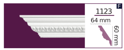 Карниз потолочный с орнаментом 1123 (2.44м) Home Decor, лепной декор из полиуретана