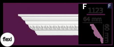 Карниз потолочный с орнаментом 1123 (2.44м) Flexi Home Decor, лепной декор из полиуретана