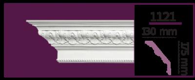 Карниз потолочный с орнаментом 1121 (2.44м) Home Decor, лепной декор из полиуретана