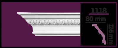 Карниз потолочный с орнаментом 1118 (2.44м) Home Decor, лепной декор из полиуретана