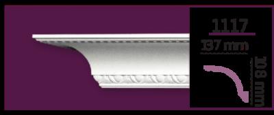 Карниз потолочный с орнаментом 1117 (2.40м) Home Decor, лепной декор из полиуретана